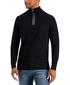 Men's Quarter-Zip Sweater, Created for Macy's