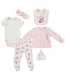 Baby Girls 6-Pc. Quilted Cardigan Set