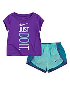 Little Girls Just Do It Sprinter Shorts Set