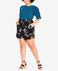 Plus Size Paradise Shorts