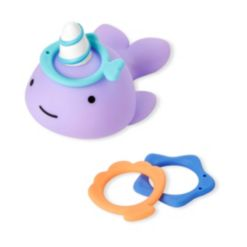 Zoo Narwhal Ring Toss Bath Toy Set