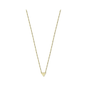Triangle Pendant Necklace in 14k Gold over Sterling Silver