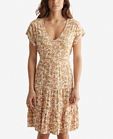 Printed Tiered Babydoll Dress