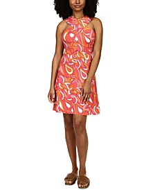 Printed High-Neck Dress