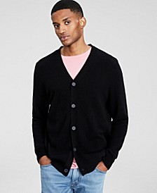 Men's Cashmere V-Neck Cardigan, Created for Macy's
