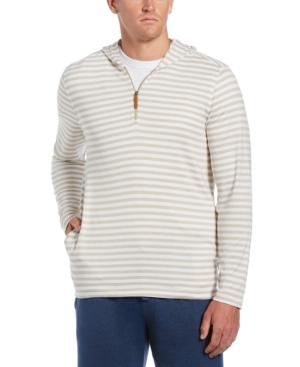 Men's Stripe 1/4-Zip Hooded Sweater