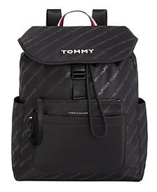 Piper Tonal Logo-Stripe Backpack