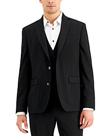 Men's Slim-Fit Black Solid Suit Jacket, Created for Macy's