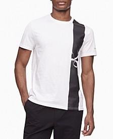 Men's Vertical Stripe Logo Graphic T-Shirt
