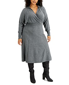 Plus Size Collared Sweater Dress, Created for Macy's