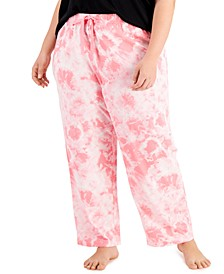 Plus Size Printed Knit Pajama Pants, Created for Macy's