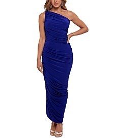 One-Shoulder Scrunched Gown