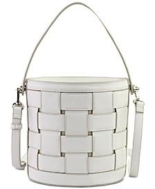 Woven Bucket Crossbody