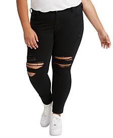 711 Plus Size Distressed Skinny Jeans