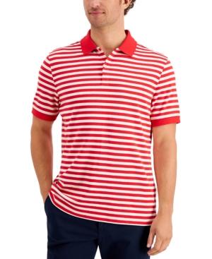 Men's Striped Soft Cotton Interlock Polo