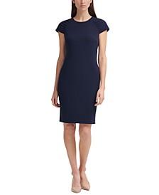 Ruched Cap-Sleeve Sheath Dress