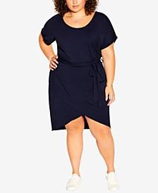 Plus Size Relaxed Drape Dress