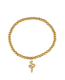 Snake Stretch Clear Cubic Zirconia Bracelet