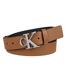 Men's Logo Plaque Buckle Fashion Jean Belt