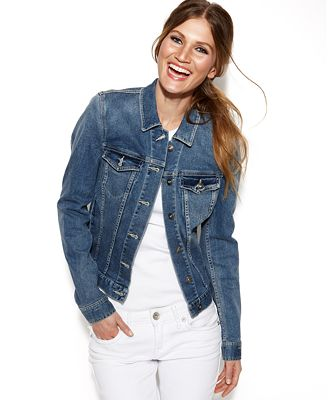 TWO by Vince Camuto Classic Denim Jacket - Jackets - Women - Macy's