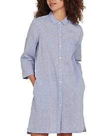 Seaglow Button-Down Chambray Dress