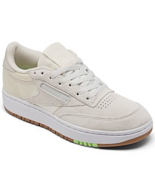 Women's Club C Double Platform Casual Sneakers from Finish Line