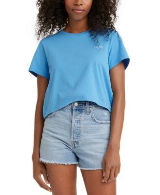 Juniors' Jordie Cotton Cropped T-Shirt