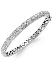 Arabella Swarovski Zirconia Pave Bangle Bracelet in Sterling Silver (5 ct. t.w.)