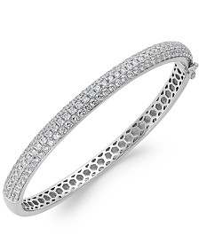 Arabella Swarovski Zirconia Pave Bangle Bracelet in Sterling Silver (5 ct. t.w.)