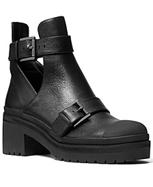 Women's Corey Buckled Lug Sole Ankle Booties