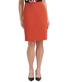 Scuba Crepe Pencil Skirt