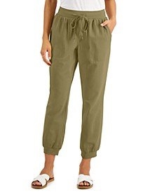 Petite Crepe Jogger Pants, Created for Macy's