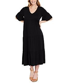 Tiered Maxi Maternity Dress