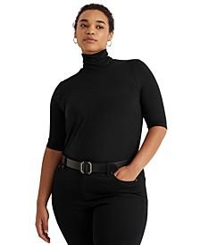 Plus Size Lightweight Turtleneck Sweater