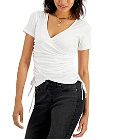 Surplice Side-Tie T-Shirt, Created for Macy's