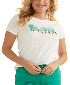 Beach Logo Cotton T-Shirt