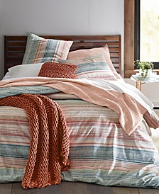 Colorblock Printed Stripe Comforter Sets, Created for Macy's