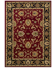 """CLOSEOUT! St. Charles STC524 Red 5'1"""" x 7'5"""" Area Rug"""