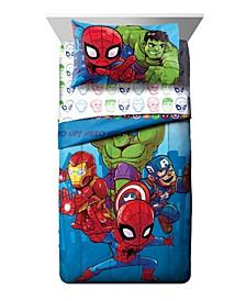 Amigos Toddler Bed Set, 4 Pieces