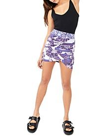 She's Something Else Printed Mini Skirt