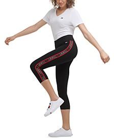 Women's Logo Tape Capri Leggings