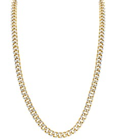 """Men's Diamond Curb Link 23"""" Chain Necklace (4-1/2 ct. t.w.) in 10k Gold"""