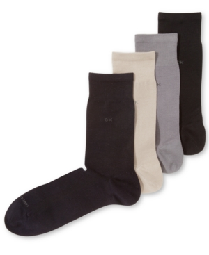 Calvin Klein Tech Cool Flat Knit Crew Dress Socks