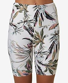 Juniors' Las Flores Floral-Print Swim Shorts