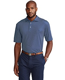 Men's Big & Tall Foulard-Print Performance Polo Shirt