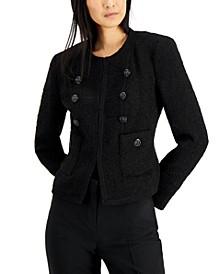 Textured Collarless Jacket