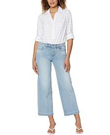 Teresa Wide-Leg Ankle Jeans