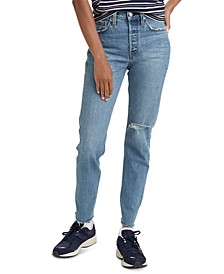 Women's 501 Distressed Skinny Jeans