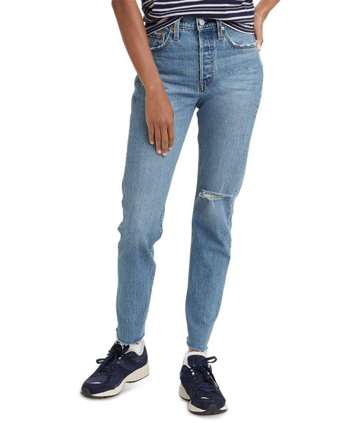 Levi's Women's 501 Distressed Skinny Jeans & Reviews - Jeans - Juniors - Macy's