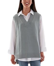 Juniors' Sweater Vest